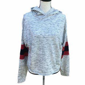 Miss Chievous Women's  Gray Hooded Sweater XL